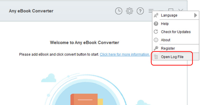 Find Log File of Any eBook Converter