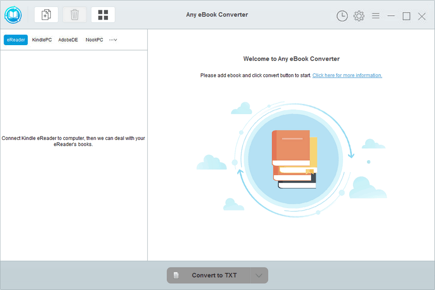 Main interface of Any eBook Converter